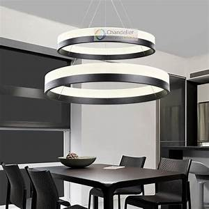 Two sizes modern contemporary rings pendant light