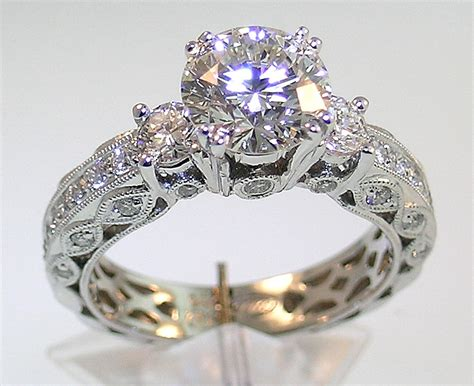 old style vintage inspired wedding rings with victorian