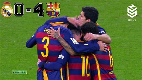 Real Madrid vs Barcelona 0-4 All Goals and Full Highlights ...