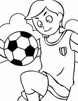 Coloring Pages Colouring Soccer Playing Sports Football Balls sketch template