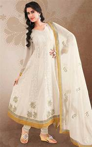 White Anarkali Suits Design and Pictures | Anarkali Dress