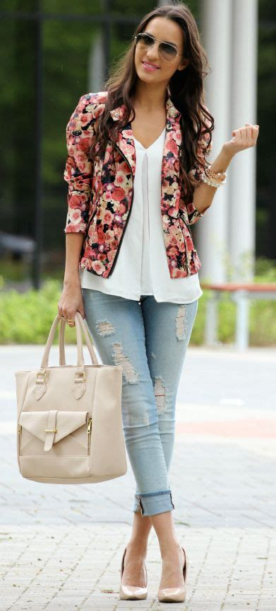 Full Sleeve Colorful Floral Printed Women Blazer u2013 Designers Outfits Collection