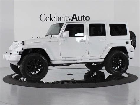 white and black jeep wrangler white lifted wrangler jeep with black rims fantasy