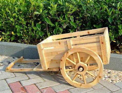 wheel cedar wagon planter ceder wood cart wooden cart