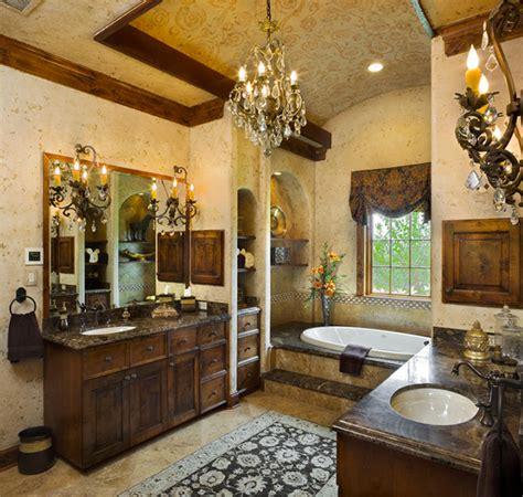 tuscan style master bath mediterranean bathroom