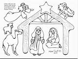 Nativity Christmas Coloring Scene Jesus Pages Manger Printable Figures Drawing Characters Lds Simple Template Line Cut Getcolorings Adults Serendipityhollow Serendipity sketch template
