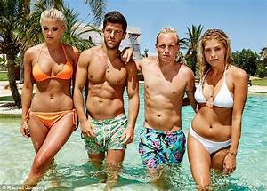 MIC39s Frankie Gaff Poses With Castmates For Ibiza Series Daily Mail Online