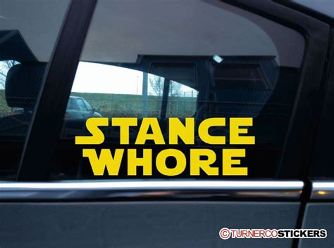 stance whore funny galactic theme stanced lowered car sticker
