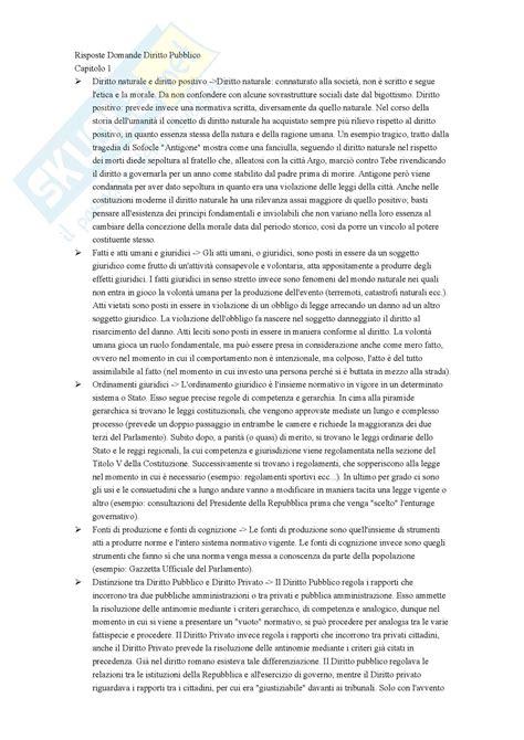 dispensa diritto pubblico domande e risposte esame appunti di diritto pubblico