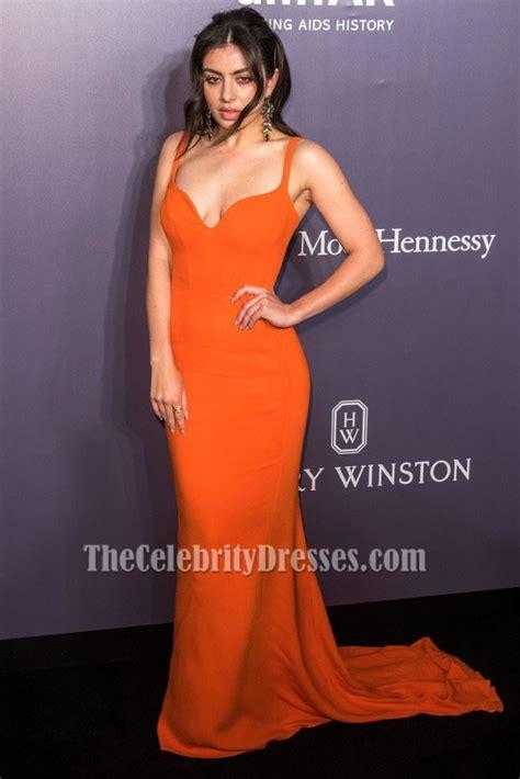 Charli Xcx  Ee  Orange Ee   Evening  Ee  Dress Ee   Amfar Hong Kong Celebrity