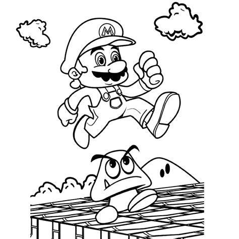 Mario Kleurplaten Printen by Mario Bros Kleurplaten Kleurplatenpagina Nl