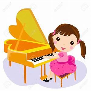 Piano clipart tocar - Pencil and in color piano clipart tocar