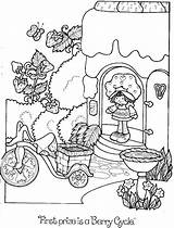 Coloring Strawberry Shortcake Rainbow Adult Cake Angel sketch template