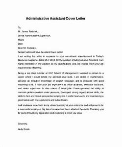 Cover Letter Format For Executive Assistant Administrative Assistant Cover Letter Template 9 Free Administrative Assistant Cover Letter Pdf Administrative Assistant Cover Letter Bbq Grill Recipes