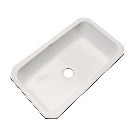 thermocast kitchen sink thermocast manhattan undermount acrylic 33 in single bowl 2726