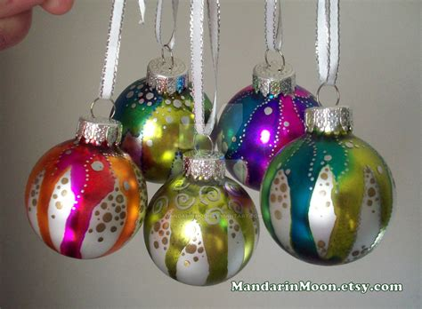 hand painted christmas ornaments painted ornaments by mandarinmoon on deviantart