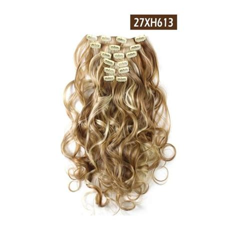20 Curly Clip In Hair Extensions Full Head 7 Pcs