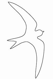 bird flying outline clipart 47 With flying bird template printable