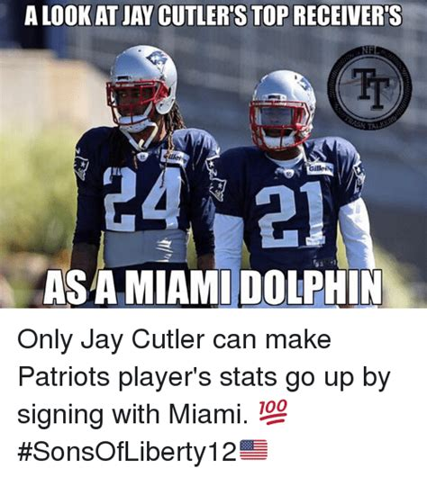 Cutler Meme - a lookat jay cutler s top receiver s nf it 24 21 asa miami dolphin only jay cutler can make