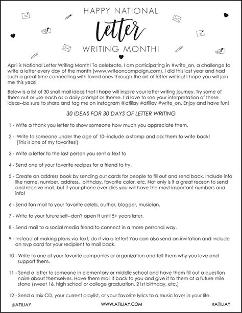 national letter writing month pdfs atiliay