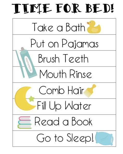 free printable bedtime routines chart preschool age 617 | 55995395206e81948b8bb1b0c0b0adcf