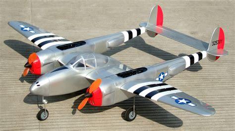 p  lightning   twin engine arf rc warbird plane