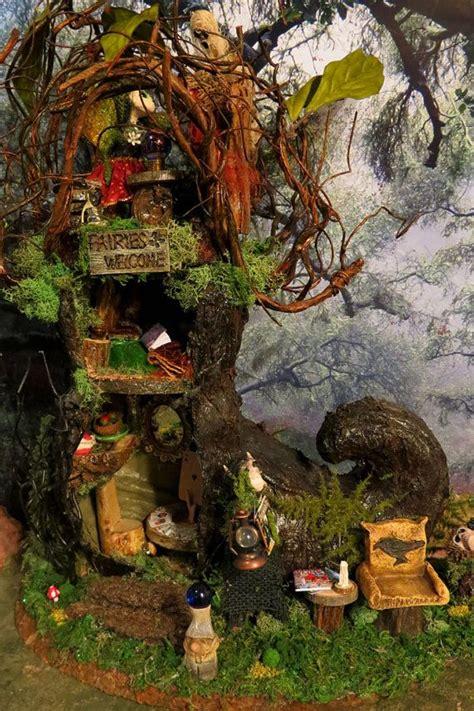 pin  ideas fairy houses fairy gardens  trees