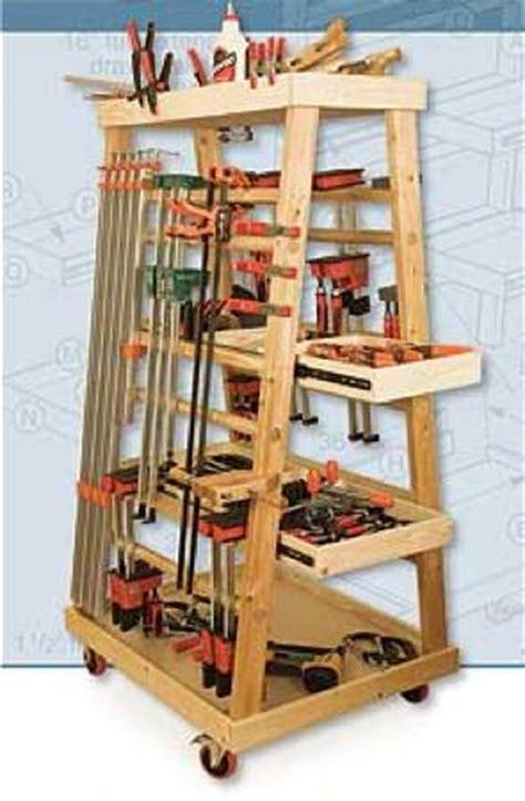 frame mobile clamp rack woodworking plan  woodworkersworkshop  store