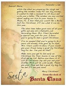 personalized letter from santa christmas pinterest With unique christmas letters