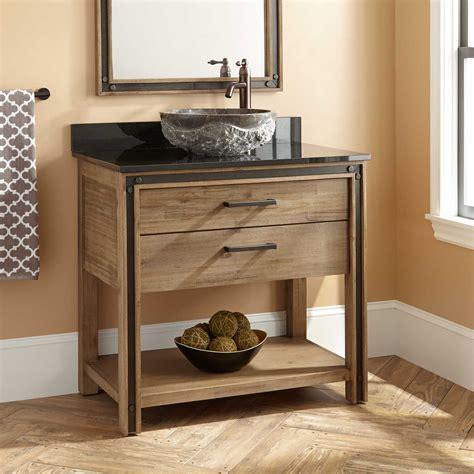 bathroom vanity with vessel sink 36 quot celebration vessel sink vanity rustic acacia