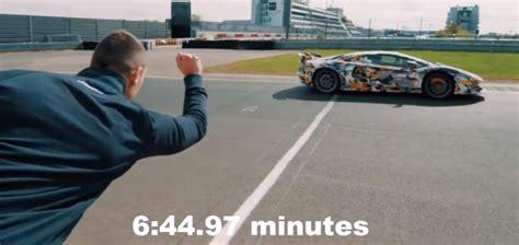 lamborghini aventador svj nurburgring lap record video