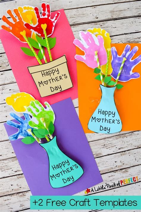adorable mothers day handprint flower craft