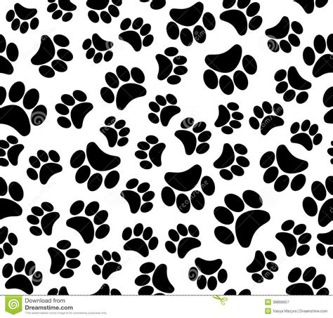 background animal footprints seamless pattern stock vector