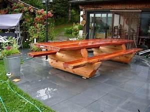 Table Et Banc En Bois : chalet en fuste chalet en rondin chalet en bois maison en ~ Melissatoandfro.com Idées de Décoration