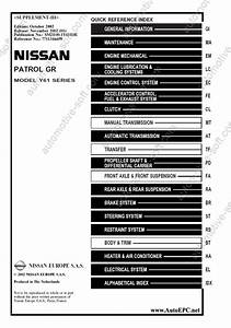 Nissan Patrol Gr Y61  Service Manual  Repair Manual  Workshop Manual  Maintenance  Electrical
