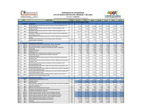 lista de precios materiales de construccion 2016 lista de precios para construccion 2016 lista