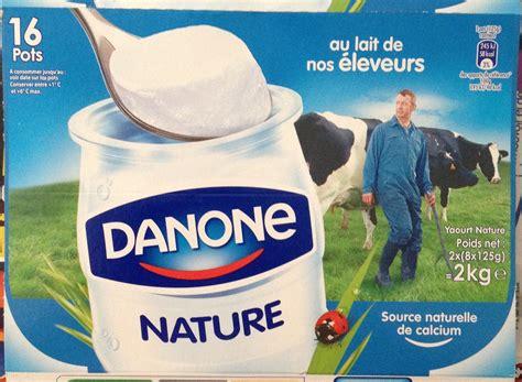 poids pot de yaourt yaourt nature 16 pots danone 2 kg 2 x 8 x 125 g