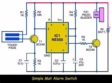 Simple Mat Alarm Switch Circuit Scheme