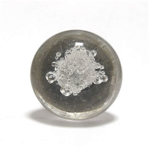 bubble clear glass cupboard drawer cabinet knobs  pushka