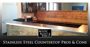 stainless countertops pros and cons home artistic alloys