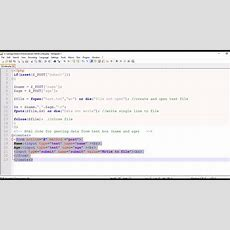 Php Script Write Text Box Input To The Text File(writing Into Text File) Youtube