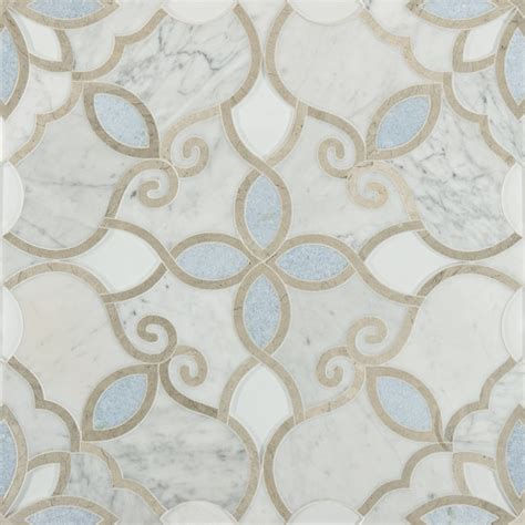 artistic tile waterjet collection granada bianco carrara