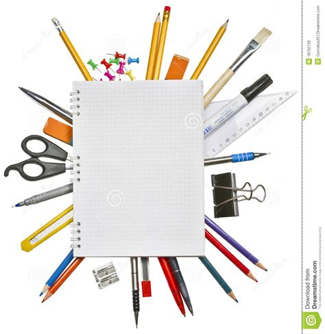 fourniture de bureau bordeaux cahier et fournitures de bureau image stock image du