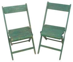 painted folding chairs on folding chair