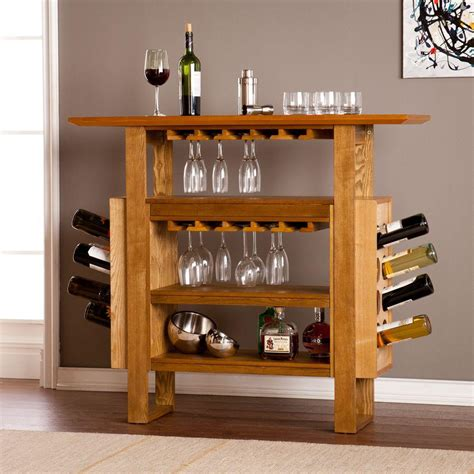 kitchen cabinets with wine rack southern enterprises sunderland 16 bottle weathered and 8189