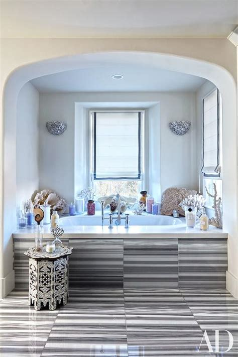 Spa Tub Bathroom by Spa Like Bathroom With Tub Nook And Gray Striated Marble