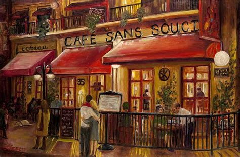 french cafe painting print home decor pinterest