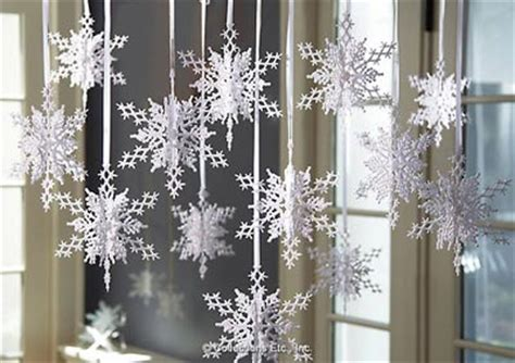 glitter frosted snowflake ornaments set