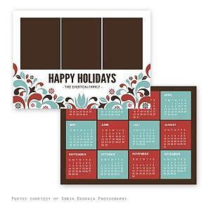 calendar  holiday card template  squijoocom