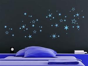 Die Sterne Vom Himmel Holen : wandtattoo n chtlicher sternenhimmel bei ~ Lizthompson.info Haus und Dekorationen